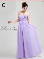 พร้อมเช่า ชุดราตรียาว ชุดเพื่อนเจ้าสาว สีม่วงอ่อน Lavender Lv-002C
