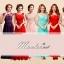 พร้อมเช่า ชุดราตรียาว สีชมพู แขนยาว แบบเรียบหรู แต่งลูกไม้เซาะดอก ปักลูกปัดมุก thumbnail 14