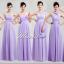 พร้อมเช่า ชุุดราตรียาว ชุดเพื่อนเจ้าสาว สีม่วงอ่อน Lavender Lv-002D thumbnail 7