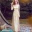พร้อมเช่า ชุดราตรียาว แขนยาว กากเพชรระยิบระยับ สีทอง แนว Gatsby (ซิปหลัง) thumbnail 2
