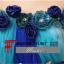 พร้อมเช่า ชุดแฟนซี ชุดราตรียาว สีฟ้า แบบเกาะอก แต่งดอกช่วงอก พร้อมเข็มขัด น่ารักมาก thumbnail 6