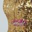 พร้อมเช่า ชุดแฟนซี เช่า 500 ชุดราตรีสั้น เกาะอก สีทอง ผ้าปักเลื่อม กระโปรงสุ่ม Tutu thumbnail 7