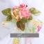 พร้อมเช่า ชุดแฟนซี ชุดราตรี เกาะอก สีขาว แต่งผ้าลายดอก สีสวยหวาน แบบ Shabby Chic thumbnail 7