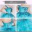 พร้อมเช่า ชุดแฟนซี ชุดราตรี ไหล่เดียว สีฟ้า แต่งเลื่อมน่ารัก ฟรุ้งฟริ้งมาก thumbnail 7