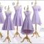พร้อมเช่า ชุดราตรีสั้น ชุดเพื่อนเจ้าสาว สีม่วงอ่อน Lavender Lv-001B thumbnail 7