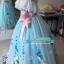 พร้อมเช่า ชุดแฟนซี ชุดราตรียาว สีฟ้ามิ้นต์ สไตล์เจ้าหญิง สีสดใส แต่งลูกไม้ขาว ช่วงอกปักเลื่อม thumbnail 14