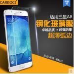 สำหรับ Samsung Galaxy A8 ฟิล์มกระจกนิรภัยป้องกันหน้าจอ 9H Tempered Glass 2.5D (ขอบโค้งมน) HD Anti-fingerprint แบบที่ 1