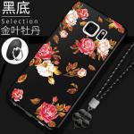 เคส Samsung S6 Edge Plus ซิลิโคนแบบนิ่ม สกรีนลายดอกไม้ สวยงามมากพร้อมสายคล้องมือ แบบที่ 2