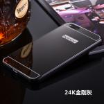 เคส Huawei 4X (aLek 4g plus) ขอบเคสโลหะ Bumper + พร้อมแผ่นฝาหลังเงางามสวยจับตา แบบที่ 4