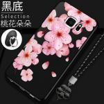 เคส Samsung S6 Edge Plus ซิลิโคนแบบนิ่ม สกรีนลายดอกไม้ สวยงามมากพร้อมสายคล้องมือ แบบที่ 4