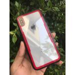 Iphone Xเคสอะคริลิคใสขอบสี-แดง