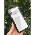 Iphone X เคสอะคริลิคใสขอบสี-ดำ