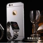 เคส iPhone 6s / iPhone 6 (4.7 นิ้ว) ขอบเคสโลหะ Bumper + พร้อมแผ่นฝาหลังเงางามสวยจับตา แบบที่ 2