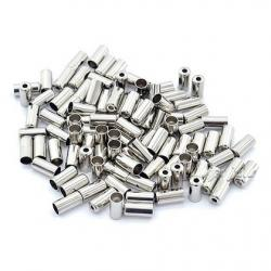 50 or 100 Silver end cap for bikes Cycles 25 Chrome 5mm Brake cable ferrules 8