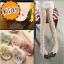 [ไซส์เด็ก] K6996 ถุงน่องเด็ก ลายจุด ปลายเท้ารูปหน้าแมว สุดน่ารัก