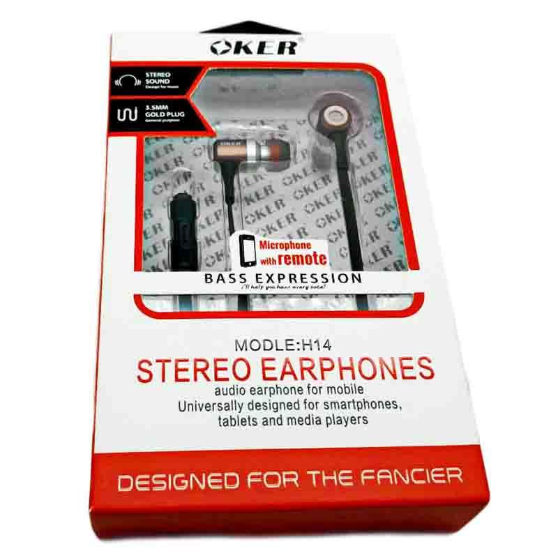 ขาย OKER H14 หูฟังมีไมค์พร้อมรีโมท เบสลึก เสียงคมชัดทุกย่าน รองรับเครื่องเล่นเพลงแจ็ค 3.5 ทุกชนิด