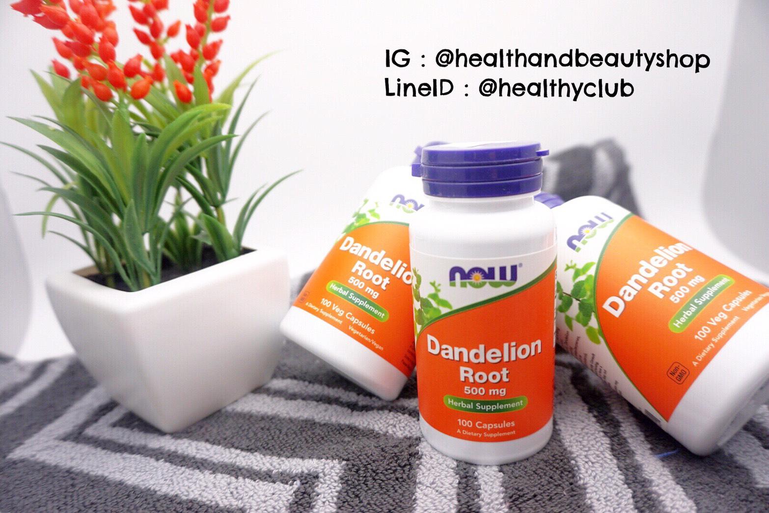 # อยากอ้วน # Now Foods, Dandelion Root, 500 mg, 100 Capsules