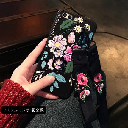 เคส Huawei P10 Plus ซิลิโคนสกรีนลายดอกไม้สวยงาม หรูหรา สวยงามมาก ราคาถูก (สายคล้องแบบสั้นหรือยาวแล้วแต่ร้านจีนแถมมา)