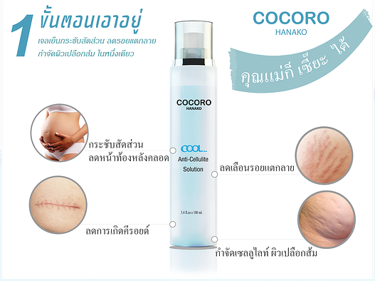 # กำจัด cellulite # COCORO COOL Anti-Cellulite Solution