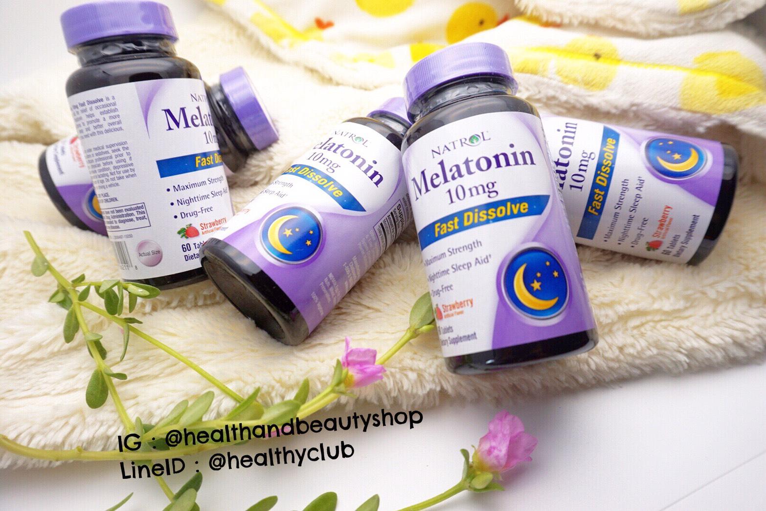 # นอนไม่หลับขั้นรุนแรง # Natrol, Melatonin 10 mg Fast Dissolve 60 Tabs