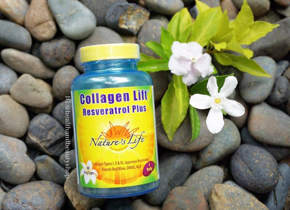 # ชะลอความแก่ชรา # Nature's Life, Collagen Lift, Resveratrol Plus, 60 Veggie Caps