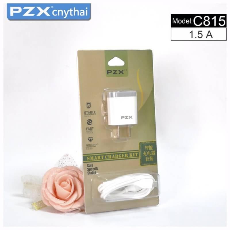 ชุุดสายชาร์จ+หัวปลั๊ก Iphone 5/6/7 ยี่ห้อ PZX