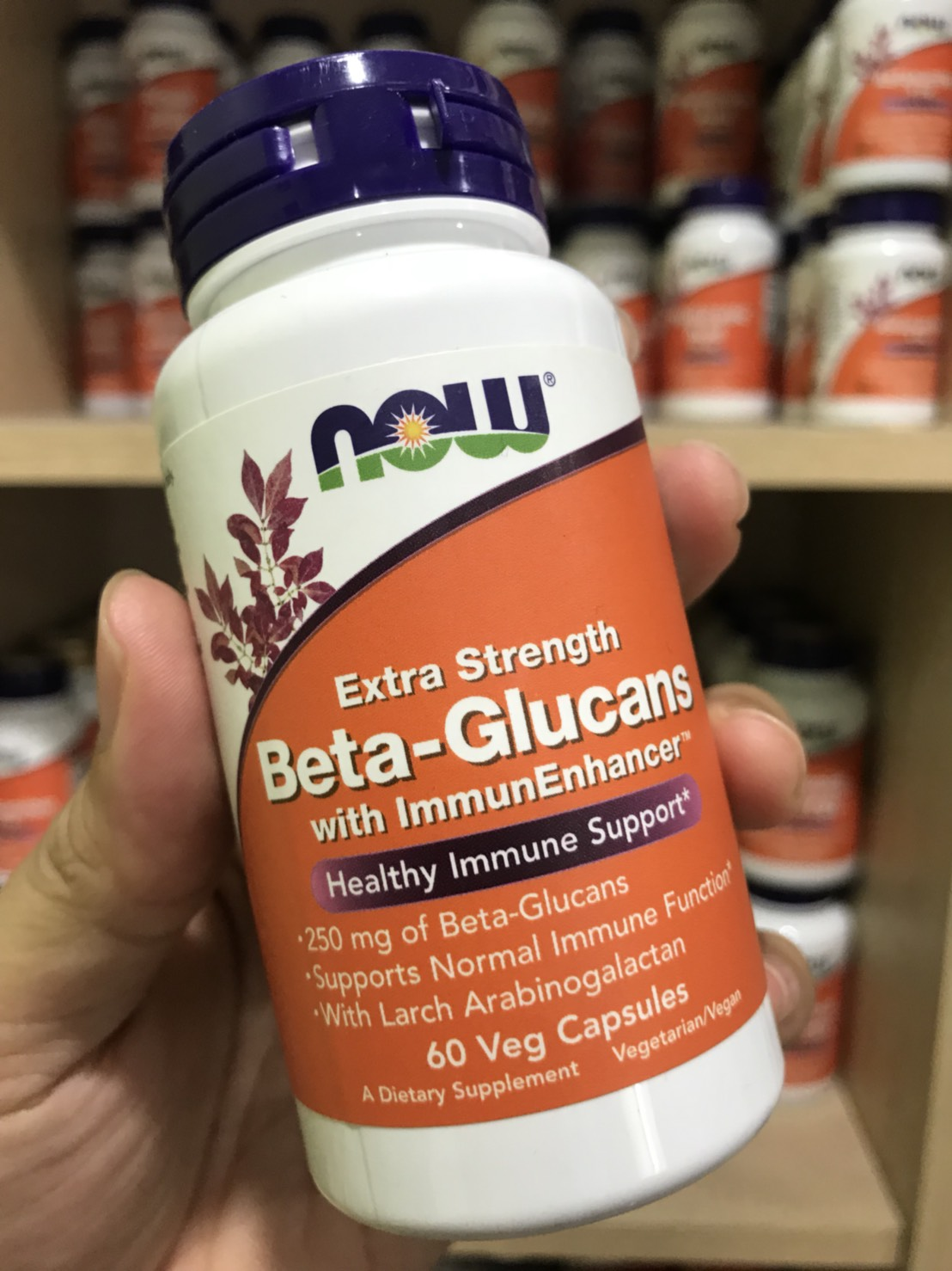 Now Foods, Beta-Glucans, with ImmunEnhancer, Xtra Strength, 250 mg, 60 Vcaps