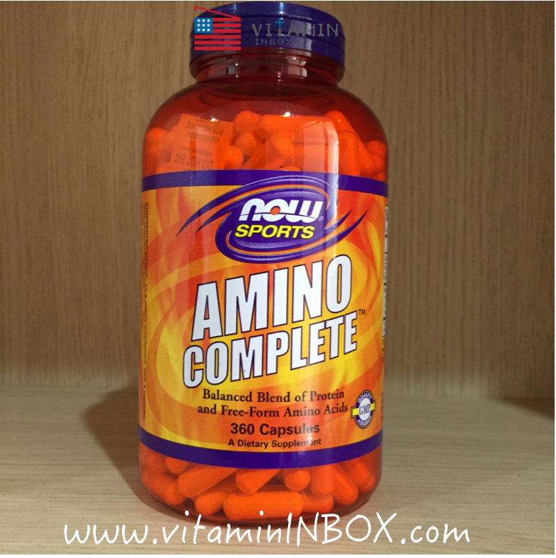 Now Foods, Amino Complete, Balanced Blends of Amino Acids, 360 Capsules