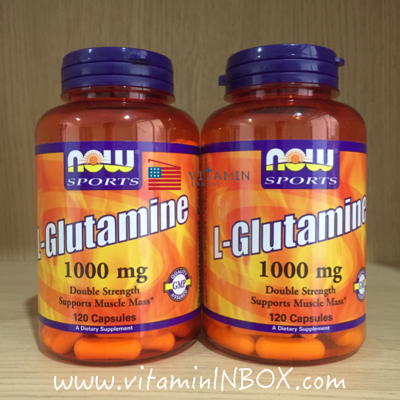 Now Foods, L-Glutamine, Double Strength, 1000 mg, 120 Capsules