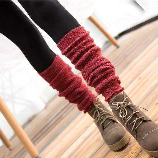 [พร้อมส่ง] S8092 ถุงขาหรือปลอกขา สามารถใส่แบบยาวหรือแบบย่นเป็นถุงเท้าก็ได้ สไตล์ญี่ปุ่นสุดน่ารัก