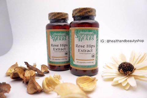 Swanson Superior Herbs Rose Hips Extract 600 mg 60 Caps