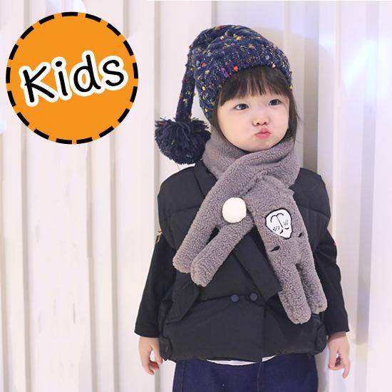 [ไซส์เด็ก] KSC7955 ผ้าพันคอสำหรับเด็ก ลายกระต่ายน้อย