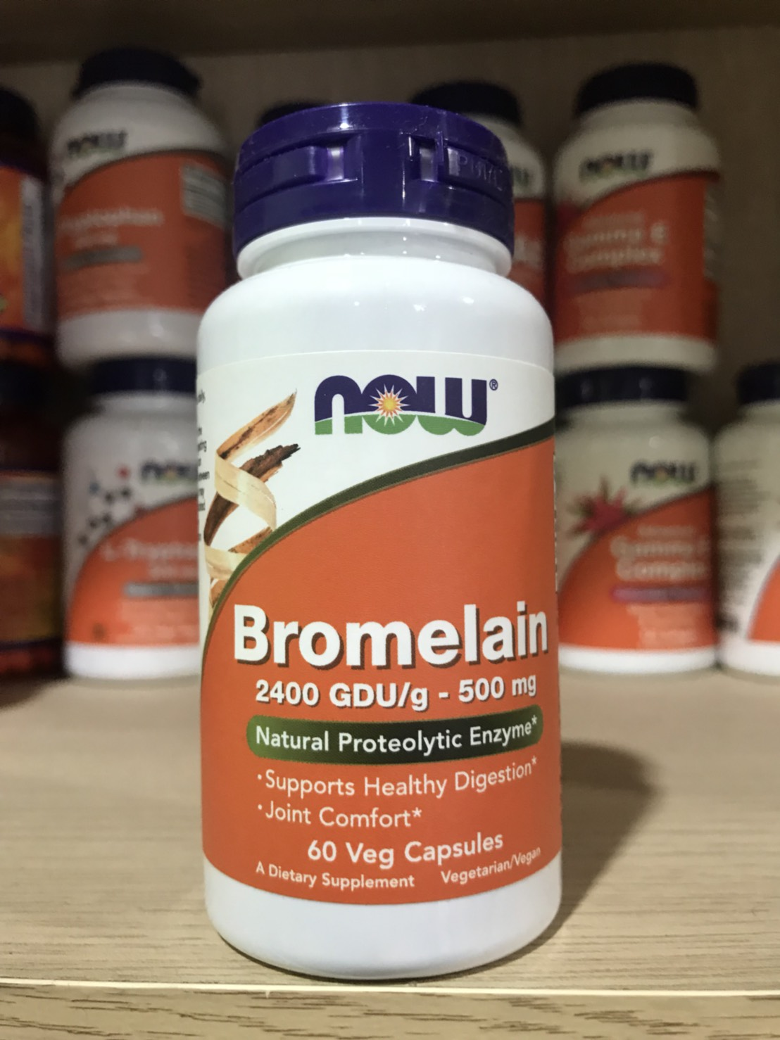 Now Foods, Bromelain, 500 mg, 60 Vcaps