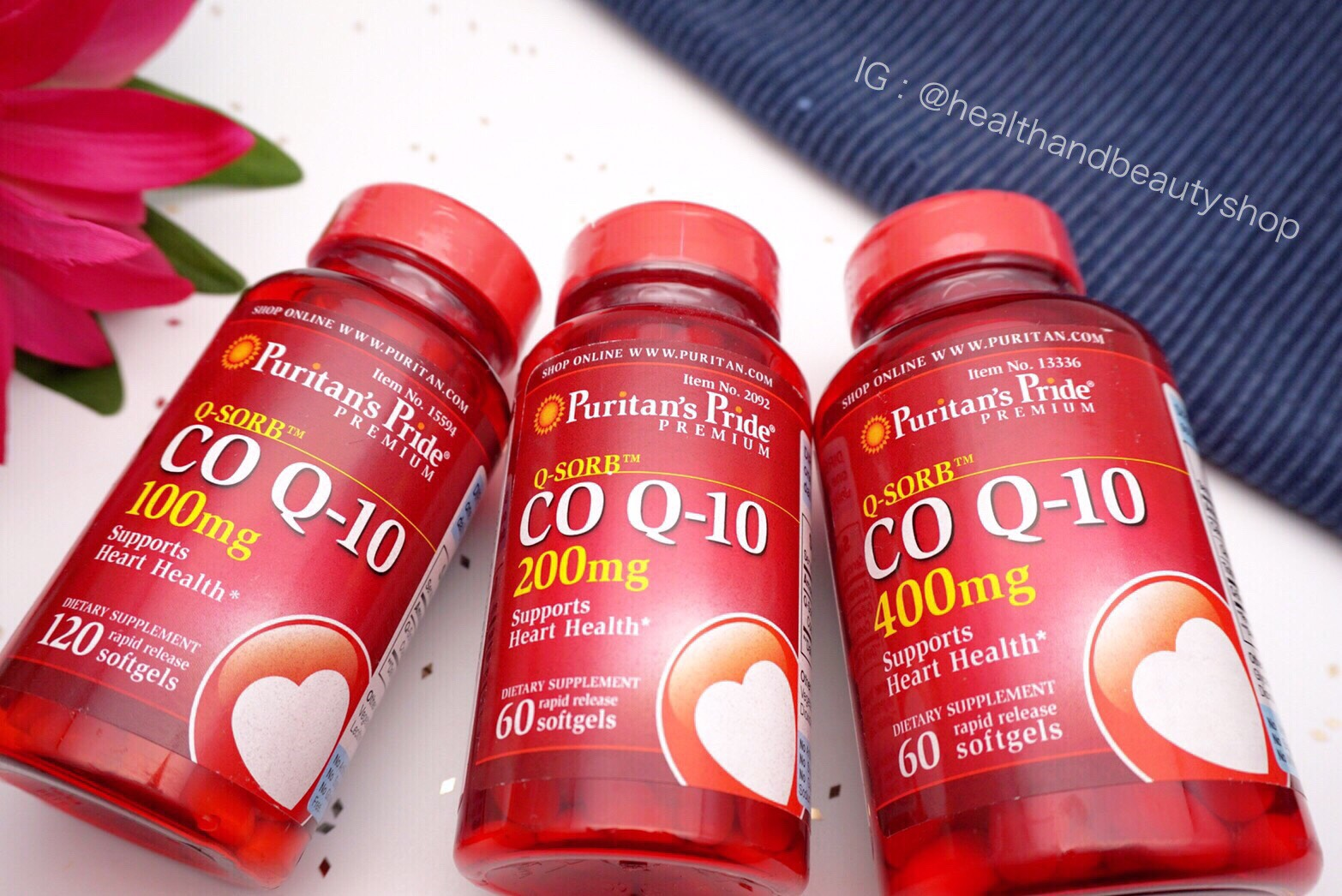 # คงความสาว # Puritan's Pride Co Q-10 200 mg Softgels