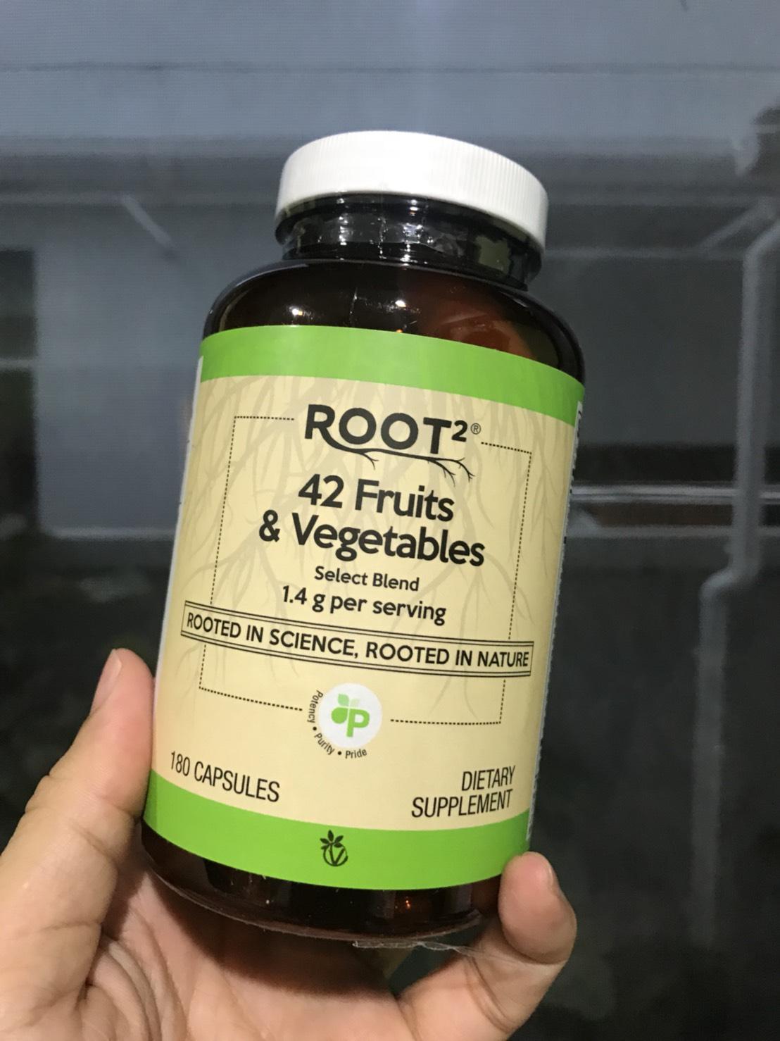 # ไม่ชอบทานผักผลไม้ # Vitacost 42 Fruits & Vegetables -- 1400 mg - 180 Capsules