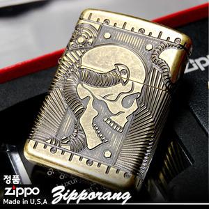 ไฟแช็ค Zippo แท้ Zippo 29268 Steampunk Skull Antique Brass Finish แท้นำเข้า 100%