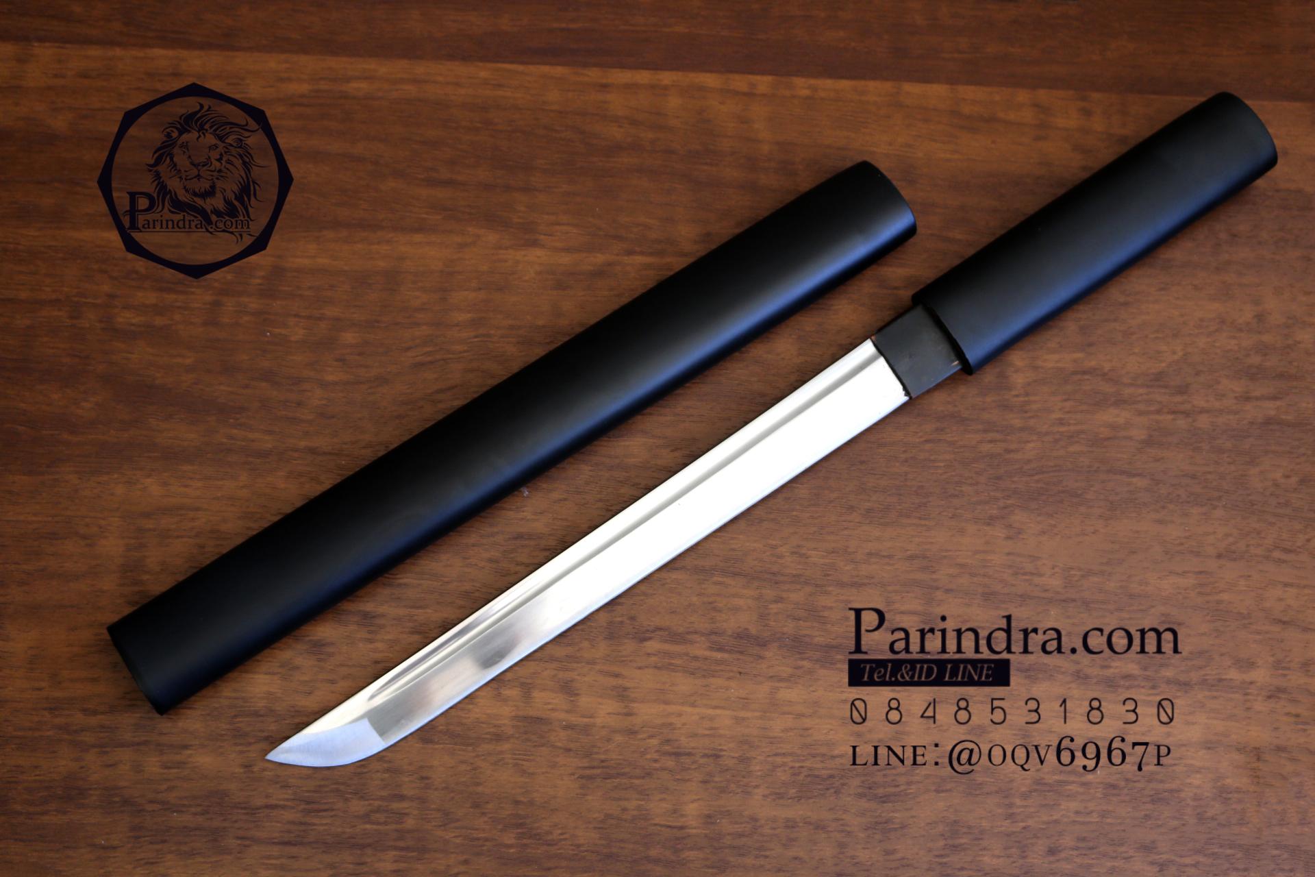 ดาบสั้นญี่ปุ่น ไว้ฝึกฟันดาบ แข็งแรงทนทาน ปลอกสีดำด้าน