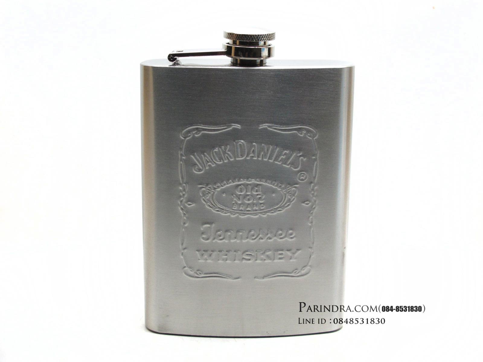 กระป่องสแตนเลส Jack Daniel's อย่างดี สำหรับพกพา บรรจุ 8 oz