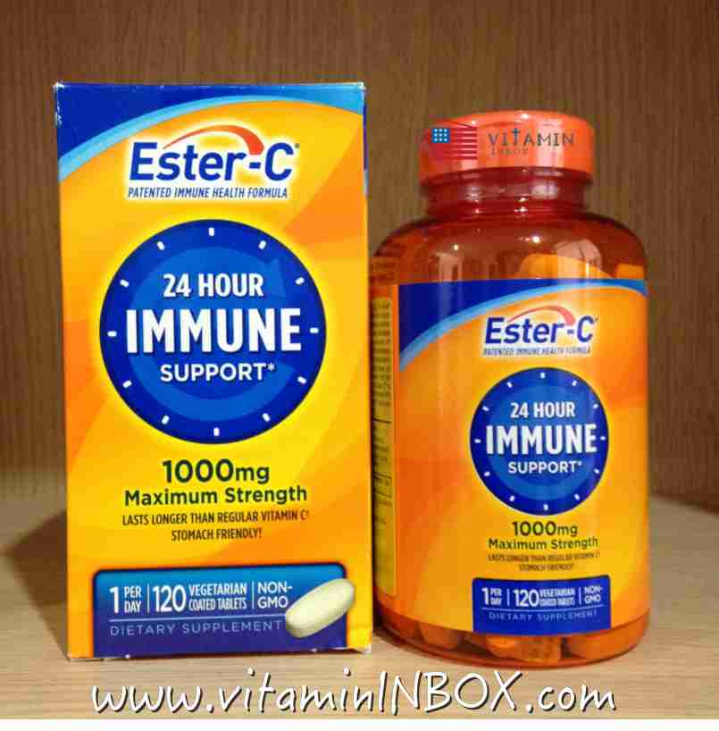 # ไม่เป็นกรด # Nature's Bounty, Ester-C, Immune Support, 1000 mg, 120 Coated Tablets