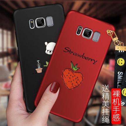 เคส Samsung S8 Plus พลาสติกลายการ์ตูนน่ารักมากๆ พร้อมสายคล้องเข้ากัน ราคาถูก