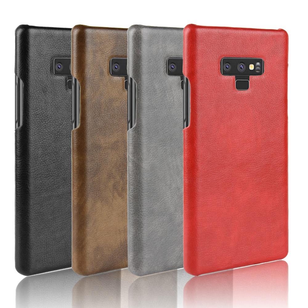 เคส Samsung Note 9 พลาสติกแบบแข็งทำเลียนแบบลายหนังสวยมาก ราคาถูก