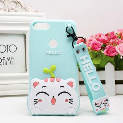 เคส Huawei Y9 (2018) ซิลิโคน soft case แบบนิ่มน่ารักมาก พร้อมสายคล้องเข้าชุด ราคาถูก