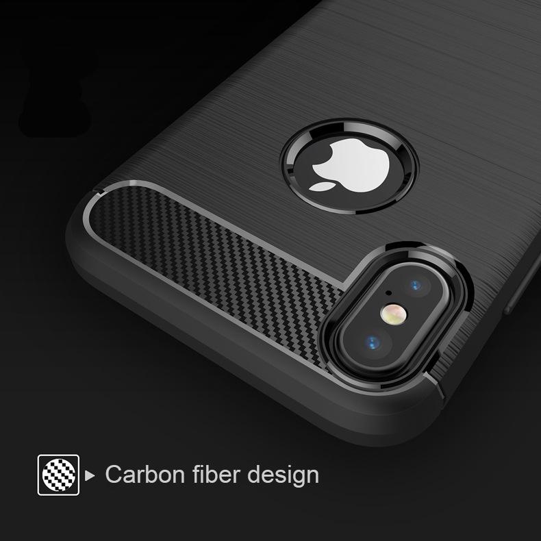 เคส Iphone X Tpu คาร์บอนไฟเบอร์