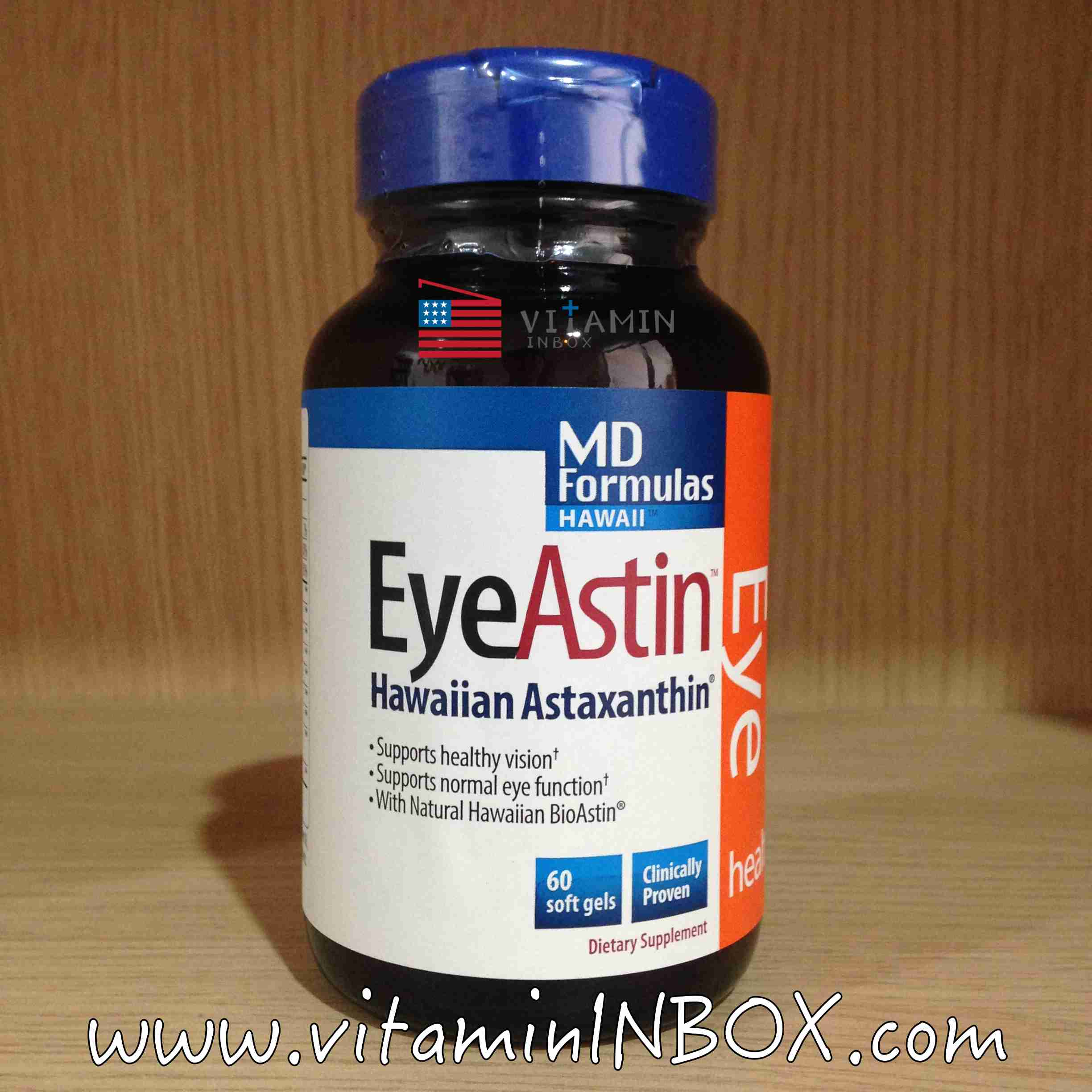Nutrex, EyeAstin, with Pure Natural Astaxanthin, 60 Softgels