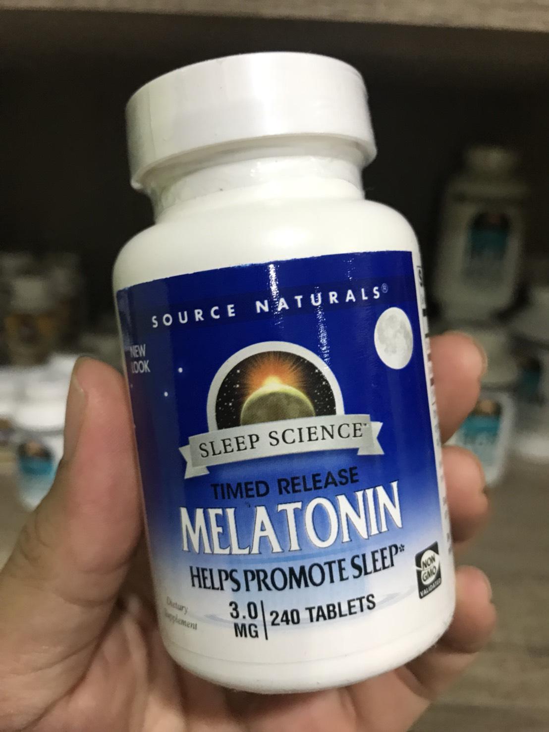 Source Naturals, Melatonin, Timed Release, 3 mg, 240 Tablets