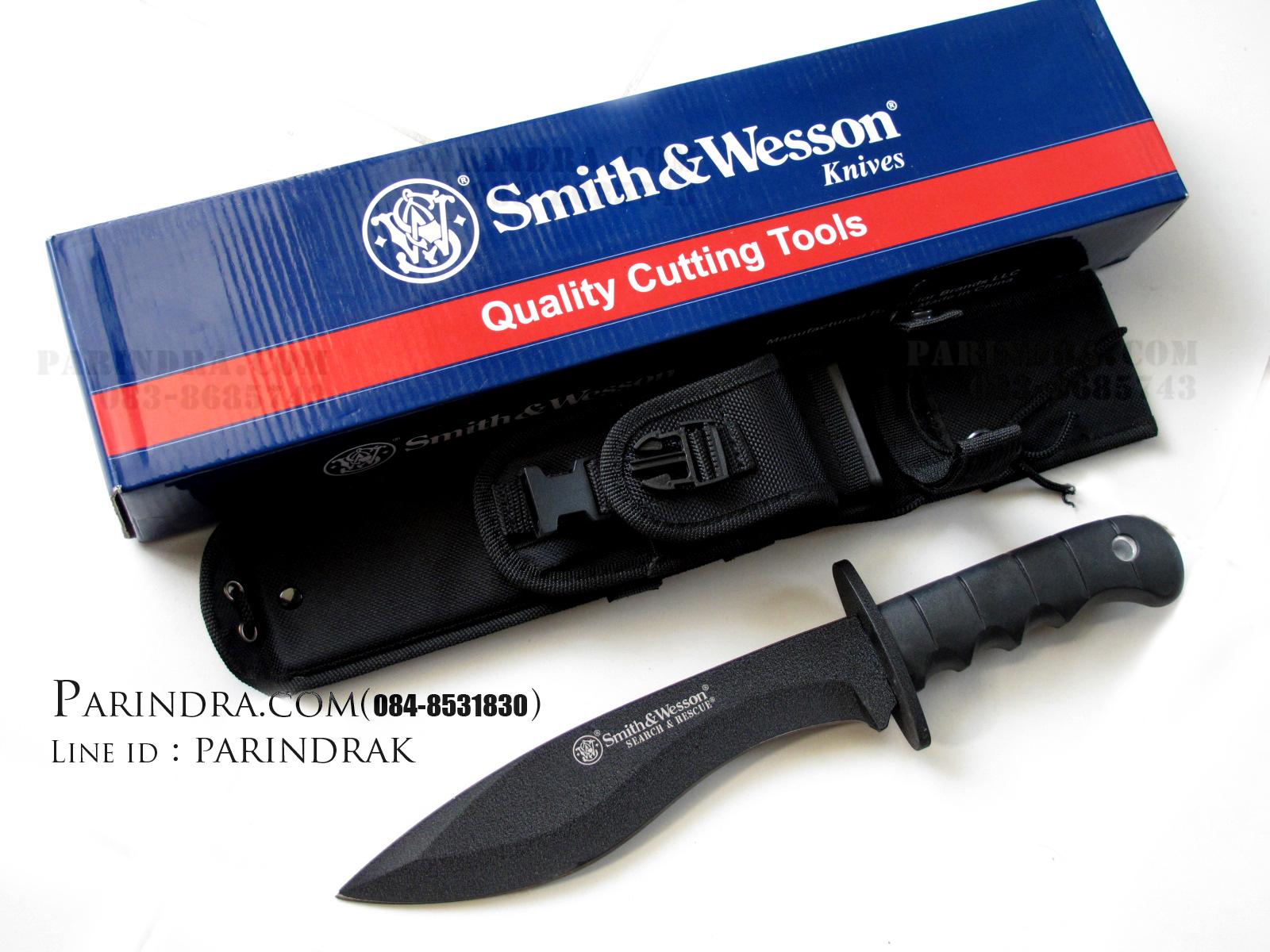 มีดเดินป่าใบตาย Smith&Wesson SEARCH AND RESCUE CKSUR7 ทรงกรูข่า (OEM )