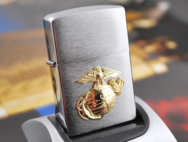 """ไฟแช็ค Zippo แท้ กองทัพเรือสหรัฐ, """"Zippo 280MAR, United States Marines """" แท้นำเข้า 100%"""