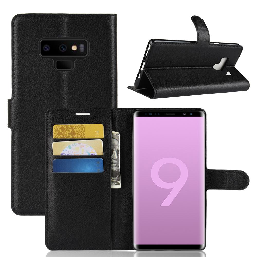 เคส Samsung Note 9 แบบฝาพับหนังเทียม ด้านในสามารถใส่บัตรได้ ราคาถูก