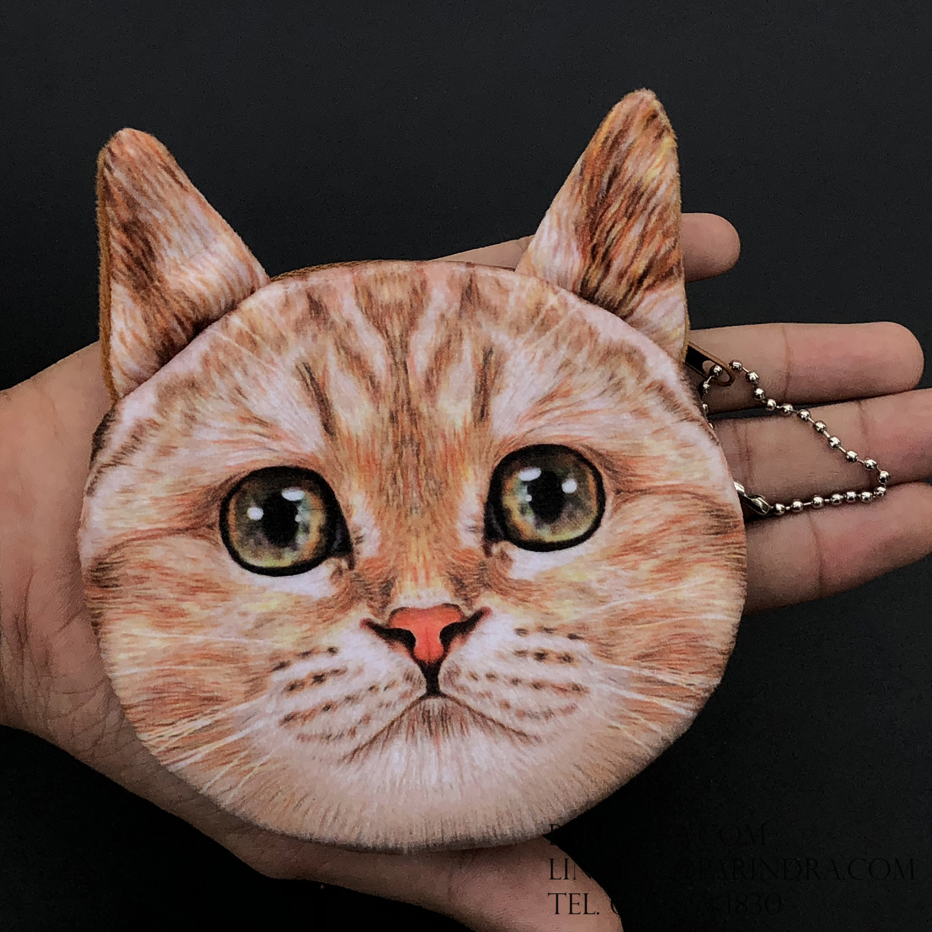 กระเป๋าใส่เหรียญ น่ารัก ขนาดกลาง แมวน้อย 3
