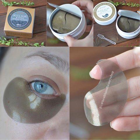 # ใต้ตา # Petitfee, Black Pearl & Gold Hydrogel Eye Patch, 60 Patches